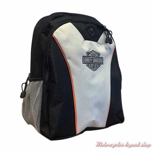 Sac à dos Harley-Davidson, noir, gris, nylon, housse de protection