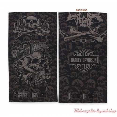 Tube Grim Harley-Davidson, skull, noir, gris, polyester, MHW34180