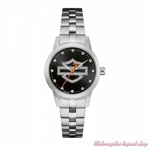 Montre Bar & Shield Glitter Harley-Davidson femme