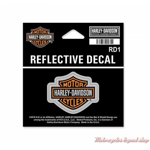 petit sticker Bar & Shield réfléchissant Harley-Davidson, RD1