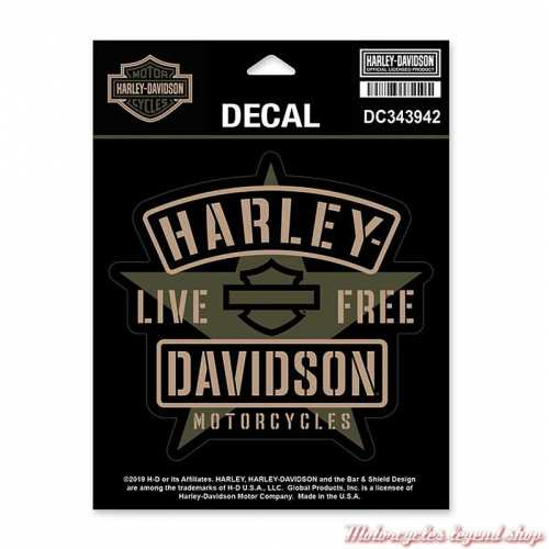 Sticker Resolute Harley-Davidson