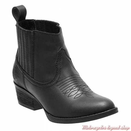 Bottines Curwood femme Harley-Davidson, cuir noir, style santiag, D84313