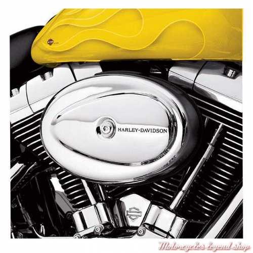 Cache de filtre à air Harley-Davidson, chromé, visuel, 29754-01