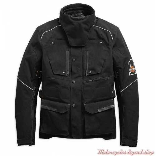 Veste 3/4 Baraboo Harley-Davidson homme, textile noir, homologué CE, 98285-19EM
