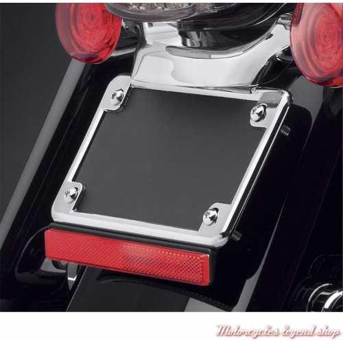 Cadre de plaque d'immatriculation chromé taille US Harley-Davidson, visuel, 59863-94T