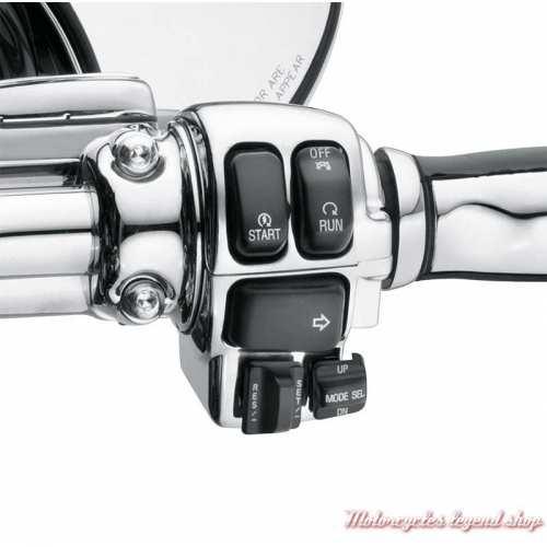 Kit de boitiers de commutateurs chromés Harley-Davidson, visuel, 71813-09