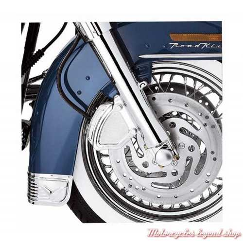 Cache d'étrier de frein avant chromé Harley-Davidson, visuel, 43798-00