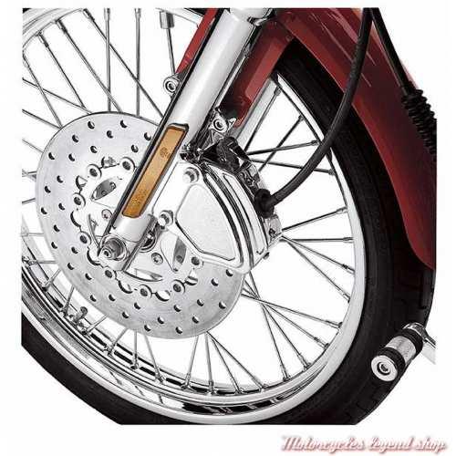 Cache d'étrier de frein avant gauche Harley-Davidson, chromé, visuel, 43759-00