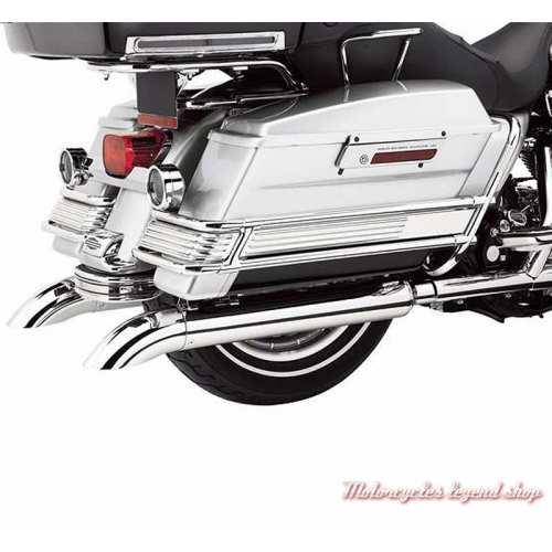 Inserts de rails de protection de sacoche Harley-Davidson chromés, visuel, 90206-02