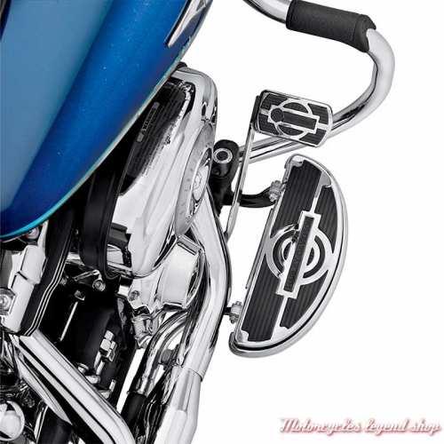 Kit de 2 Inserts de marchepied Pilote Nostalgic Harley-Davidson demi-lune 50051-09