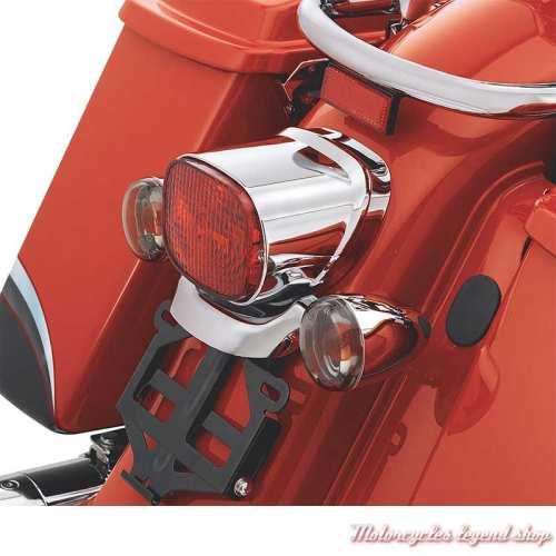 Embase d'éclairage arrière chromée Harley-Davidson, visuel, 68332-08