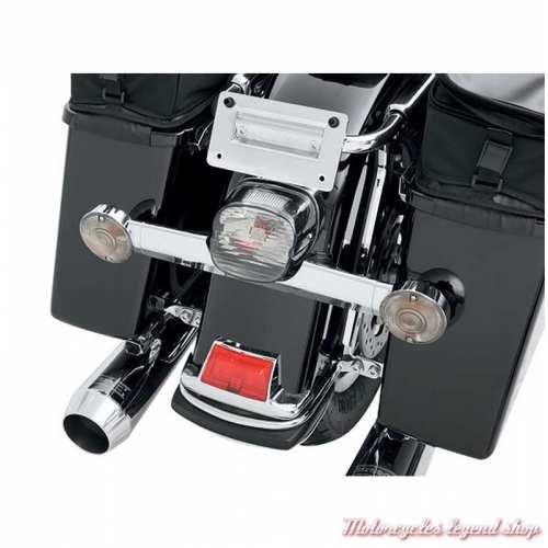 Kit de 4 cabochons de clignotants fumés Harley-Davidson et ampoules, visuel, 69306-02