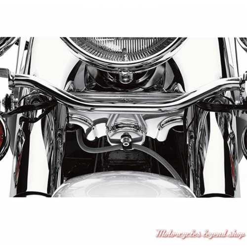 Cache de Té de fourche inférieur chromé Harley-Davidson, visuel, 66053-01