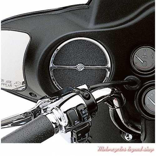 Habillage de Haut-parleur avant Harley-Davidson chromé Electra Glide, visuel, 74604-99