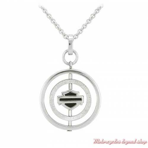 Collier Circle Bar & Shield Harley-Davidson femme
