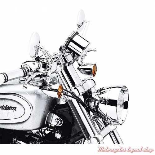 Kit de cabochons ambrés Harley-Davidsonavant ou arrière, style bullet, visuel, 69739-01