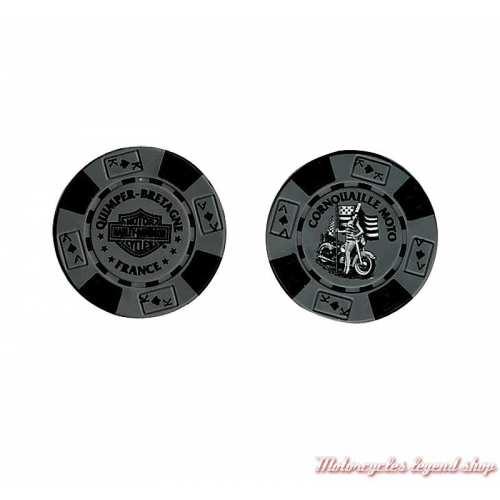Jetons de Poker H-D Quimper gris noir 778390