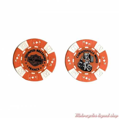 Jetons de Poker H-D Quimper orange blanc 778302