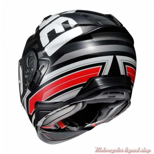 Casque intégral GT-Air 2 Insignia TC-1 Shoei, noir, rouge, blanc, arrière