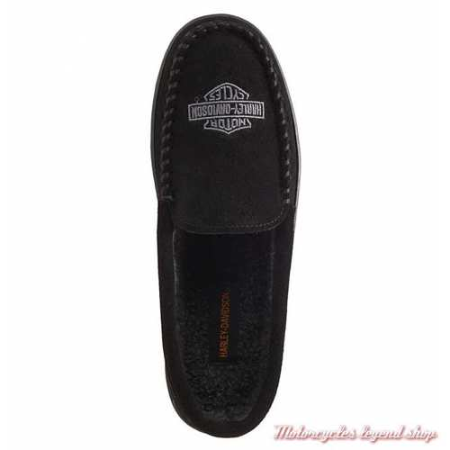 Chaussons Clay homme Harley-Davidson, noir, polyester, dessus, D93926