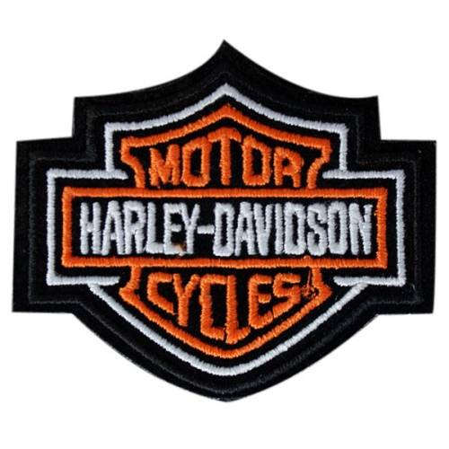 Patch Bar & Shield orange, brodé, taille small, Harley-Davidson EMB302381