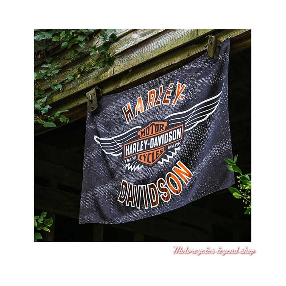 Drapeau décoratif Vintage Wings Harley-Davidson, visuel, 17S4918