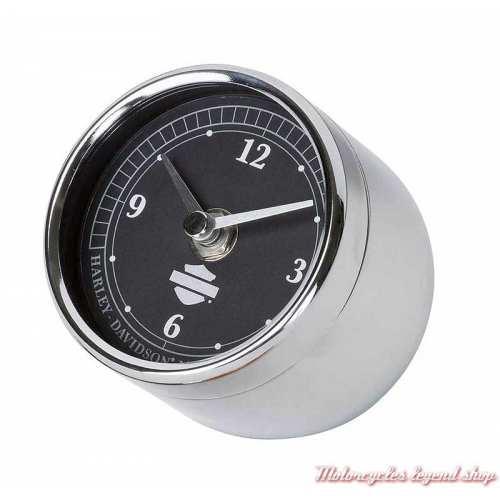 Horloge Speedometer Harley-Davidson, à poser, métal chromé, HDL-20119
