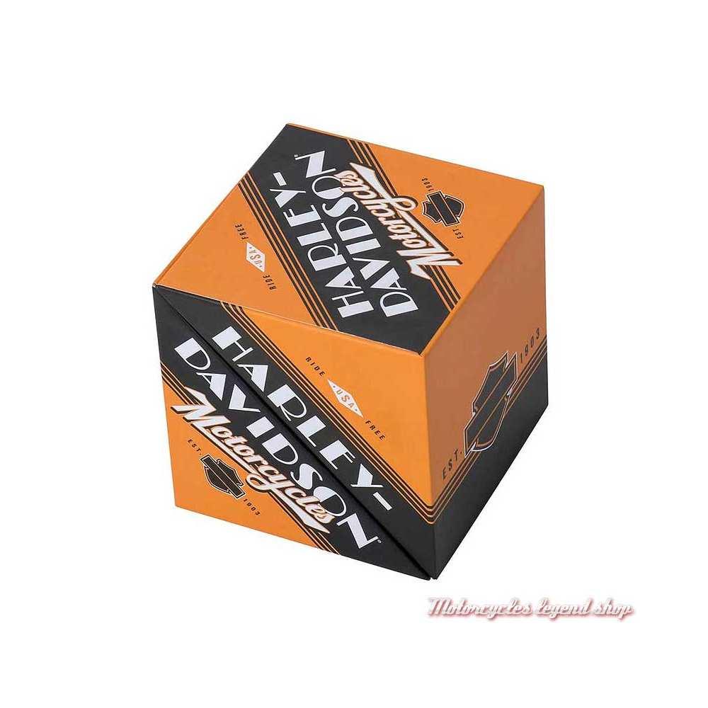 Bloc note Ride Free Harley-Davidson, cartonné, feuilles et marque pages adhésifs, fermé, HDL-20118