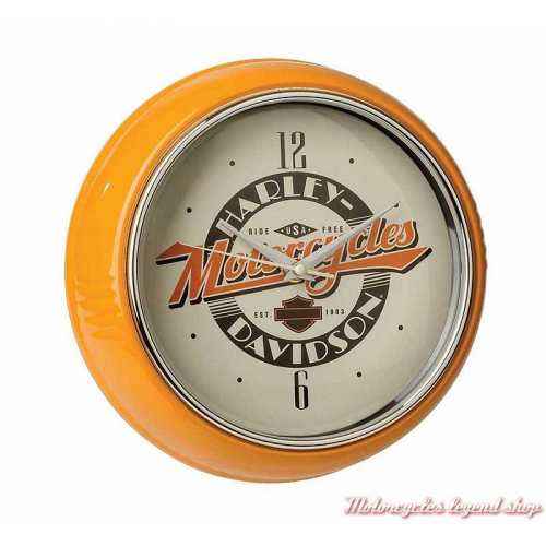 Horloge Ride Free Retro Diner Harley-Davidson, metal orange, beige, HDL-16643
