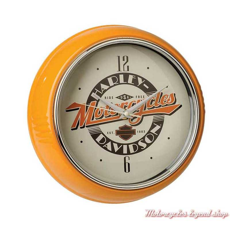 Horloge Ride Free Retro Diner Harley-Davidson, metal orange, beige, HDL-16643