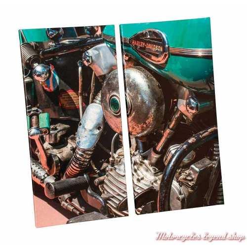 Toiles décoratives Knucklehead Harley-Davidson, 2 panneaux, vintage, HDL-15707