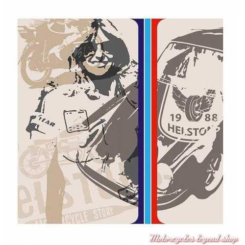 Foulard Highway Helstons mixte, polyester, 65 x 65 cm, vintage