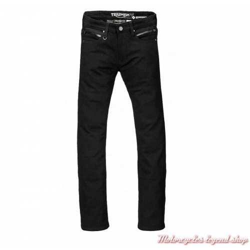 Jeans Pure Riding Triumph homme, noir, doublé, protections, homologué, MDJC17117