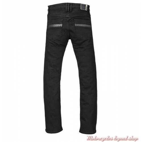 Jeans Pure Riding Triumph homme, noir, doublé, protections, homologué, dos, MDJC17117
