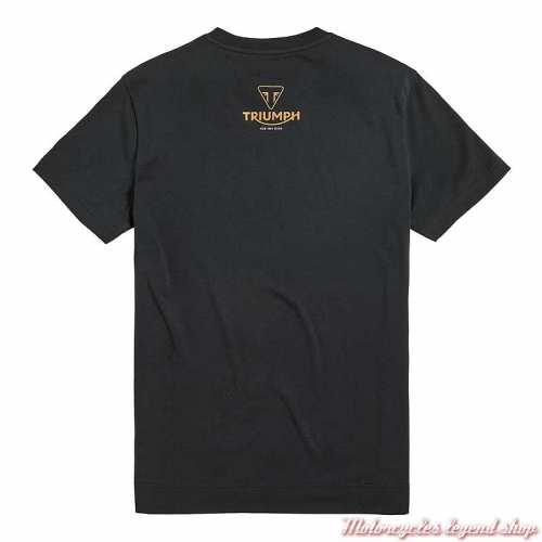 Tee-shirt Rocket 3 Triumph homme, noir, manches courtes, coton, dos, MTSS20601