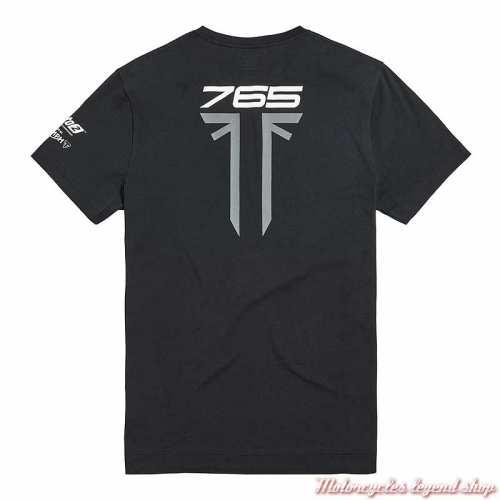 Tee-shirt Daytona Triumph homme, Moto2, noir, manches courtes, dos, MTSA19500