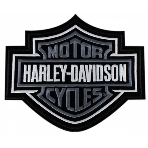 Patch Bar & Shield gris Harley-Davidson