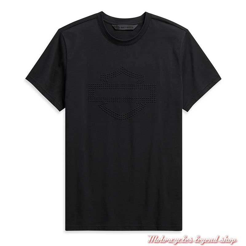 Tee-shirt Embossed Logo Harley-Davidson homme, noir, manches courtes, coton, H-D Moto, 99095-20VH