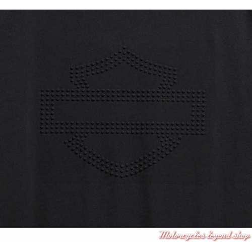 Tee-shirt Embossed Logo Harley-Davidson homme, noir, manches courtes, coton, H-D Moto, logo 99095-20VH