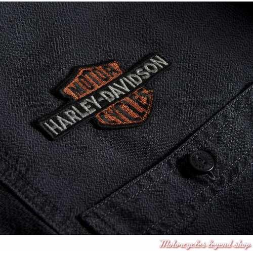 Chemise Vintage Eagle Harley-Davidson homme, gris, manches longues, coton, H-D 1903, tissus, 99103-20VM