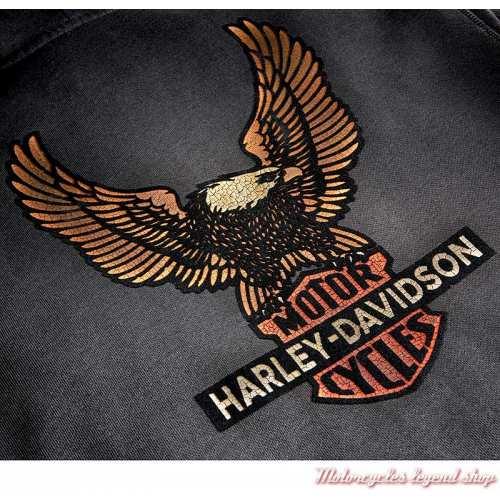 Sweatshirt Vintage Eagle Harley-Davidson homme, gris, zippé, capuche, coton, H-D 1903, visuel, 99099-20VM