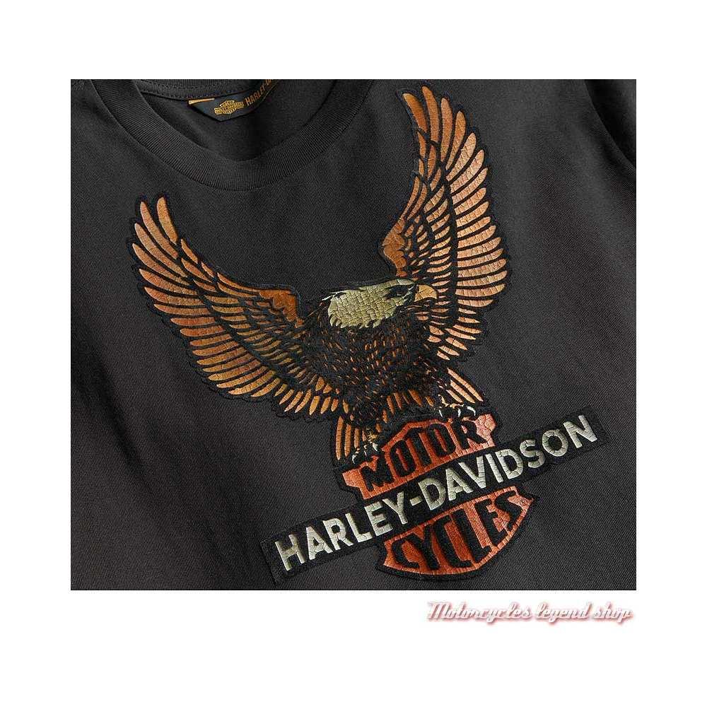 Tee-shirt Vintage Eagle Harley-Davidson homme, noir, manches longues, coton, H-D 1903, visuel, 99098-20VM