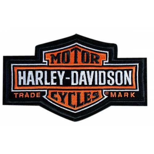 Patch Bar & Shield Antique, vintage, brodé, grand modèle, Harley-Davidson EMB312383