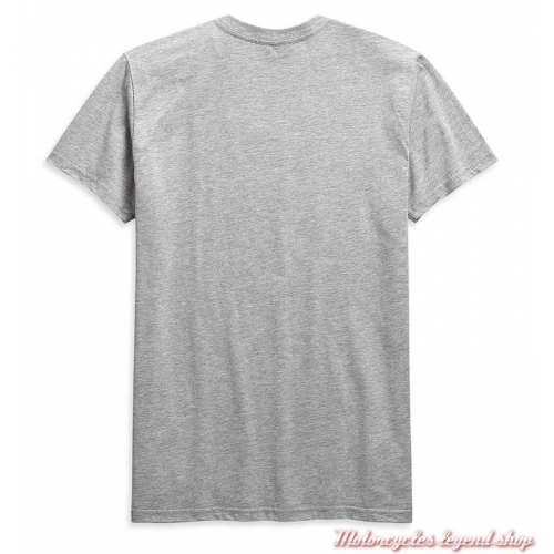 Tee-shirt Retro Outline Harley-Davidson homme, gris, manches courtes, coton, H-D Garage, dos, 99090-20VH