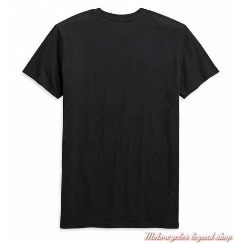 Tee-shirt Chest Stripe Harley-Davidson homme, noir, manches courtes, coton, H-D Garage, dos, 99091-20VH