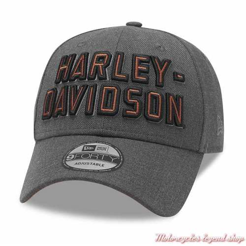Casquette Baseball Embroidered Graphic 9FORTY Harley-Davidson homme, gris clair, brodée, réglable, 99420-20VM