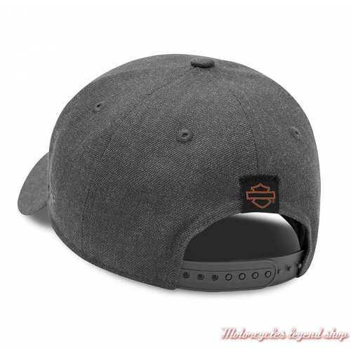 Casquette Baseball Embroidered Graphic 9FORTY Harley-Davidson homme, gris clair, brodée, réglable, dos, 99420-20VM