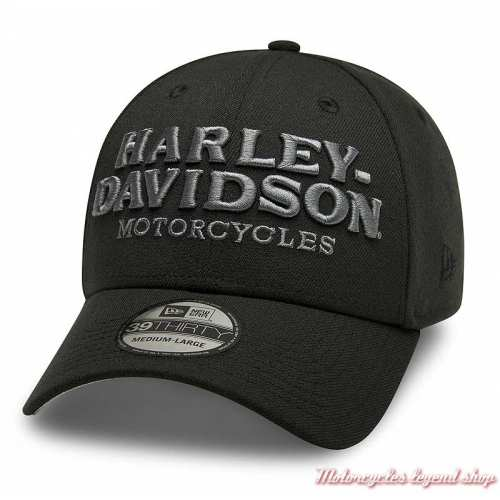 Casquette Graphic 39THIRTY Harley-Davidson homme, noir, brodé, polyester, 99417-20VM