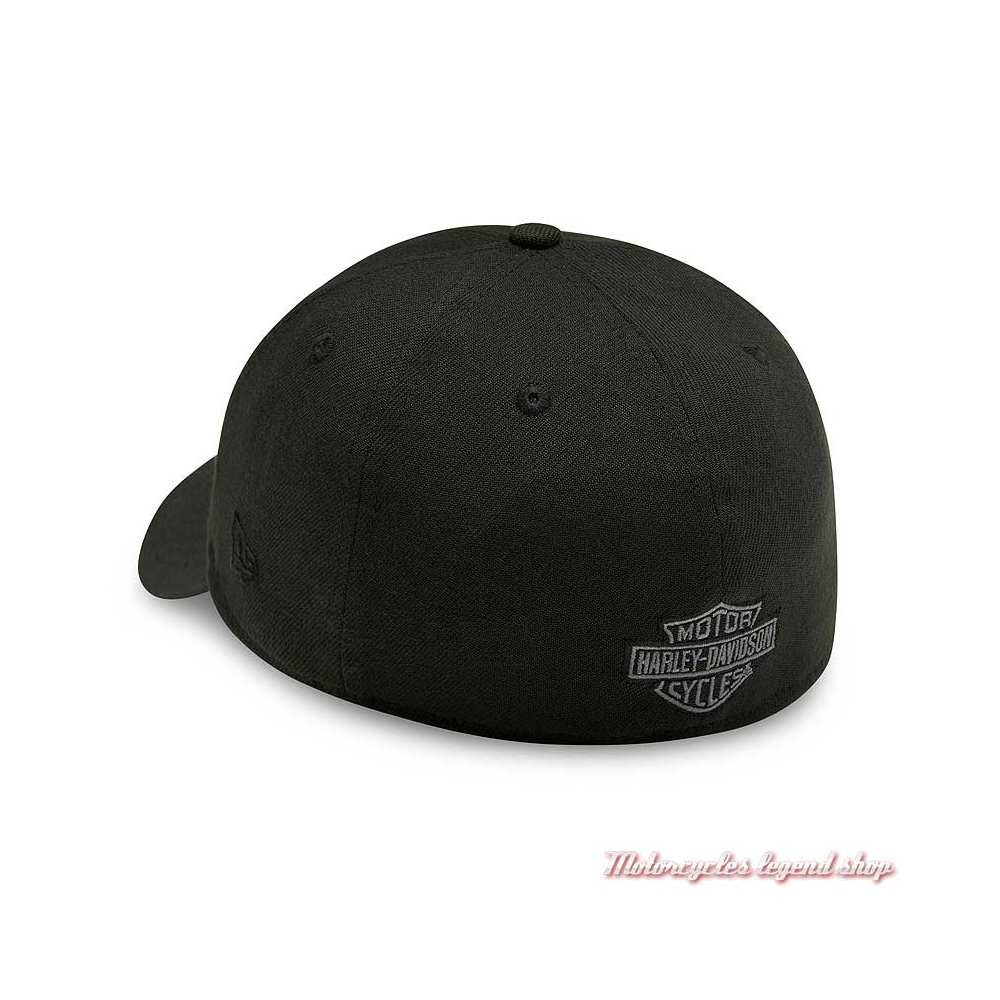 Casquette Graphic 39THIRTY Harley-Davidson homme, noir, brodé, polyester, dos, 99417-20VM