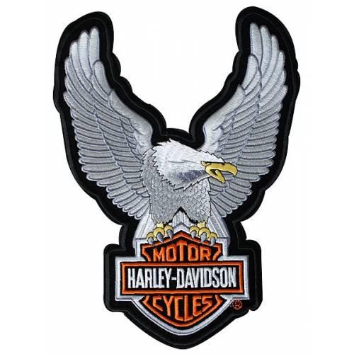 Patch Eagle Bar & Shield, brodé, modèle medium, Harley-Davidson EMB328064